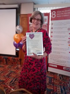 Marian Kamanalagi receives nomination for Heart of Salfod Community Volunteer December 2015